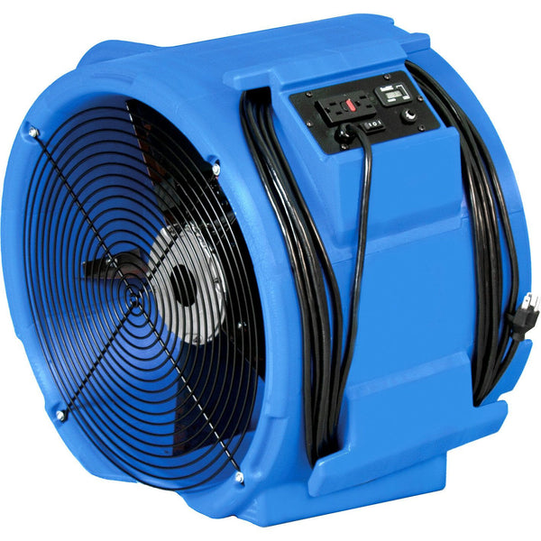Air Mover - RAPTOR® Axial Air Mover Model RAM3000D Abatement Technologies GFCI Daisy Chain Capability