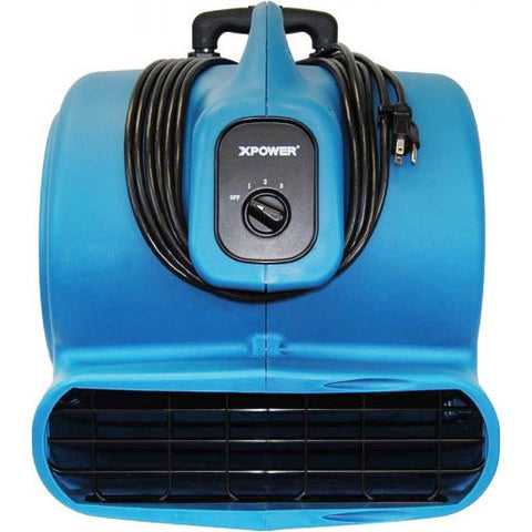 Air Mover - XPOWER P-830H 1 HP Air Mover, Carpet Dryer, Floor Fan, Blower With Telescopic Handle & Wheels