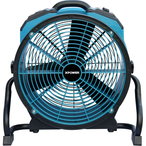 Air Mover - XPOWER X-41ATR 1/3 HP Variable Speed Industrial Axial Fan With Timer & Power Outlets