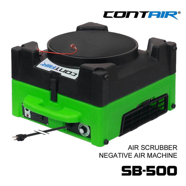 Air Scrubber - Contair-SB-500-HEPA-Air-Scrubber-Negative-Air-Machine Green Color Commercial Air Purifier