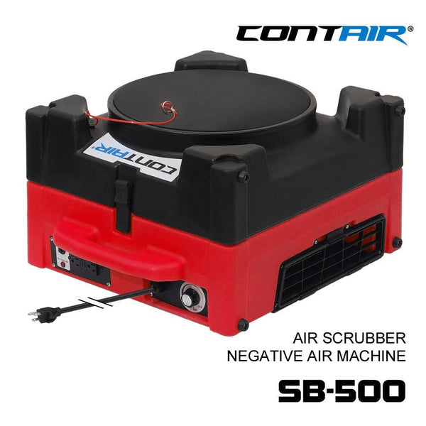 Air Scrubber - Contair SB-500 HEPA Air Scrubber Negative Air Machine Red Color Commercial Air Purifier