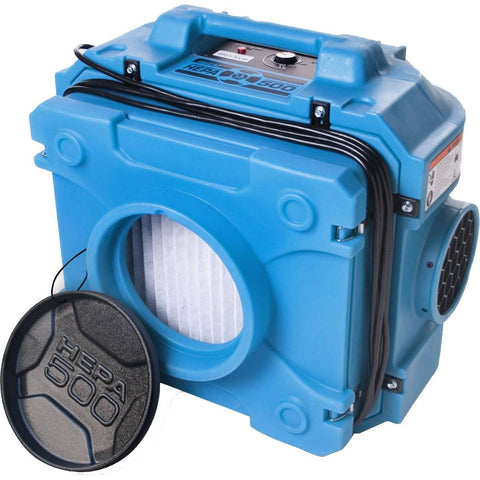 Dri-Eaz F284 Negative Air Machine Commercial Industrial HEPA 500 Air Scrubber 99.97% Efficiency Blue
