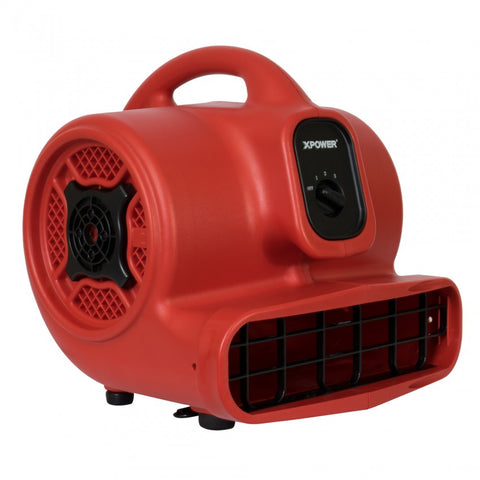 XPOWER A-400 1/4 HP, 1600 CFM, 3 Amps, Air Mover