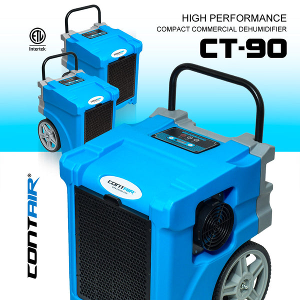 Contair® CT-90 Compact Commercial Dehumidifier in Blue