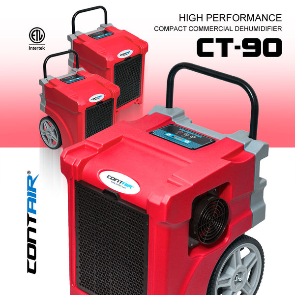 Contair® CT-90 Compact Commercial Dehumidifier in Red