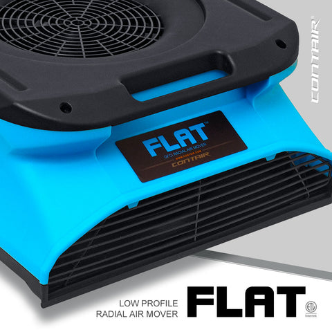 Contair® FLAT 1/4 HP Low Profile GFCI Radial Air Mover in Blue