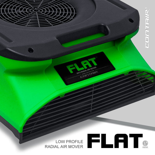 Contair® FLAT 1/4 HP Low Profile GFCI Radial Air Mover in Green
