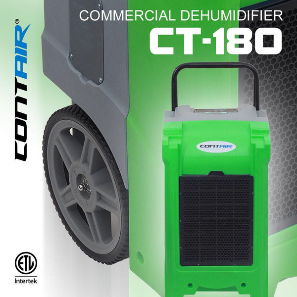 Dehumidifier - Contair® CT-180 XL Commercial Grade Dehumidifier Humidity Control ETL Certified Green Color