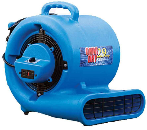 OmniDry 1/3 HP GFCI low Amp Air Mover for water damage recovery