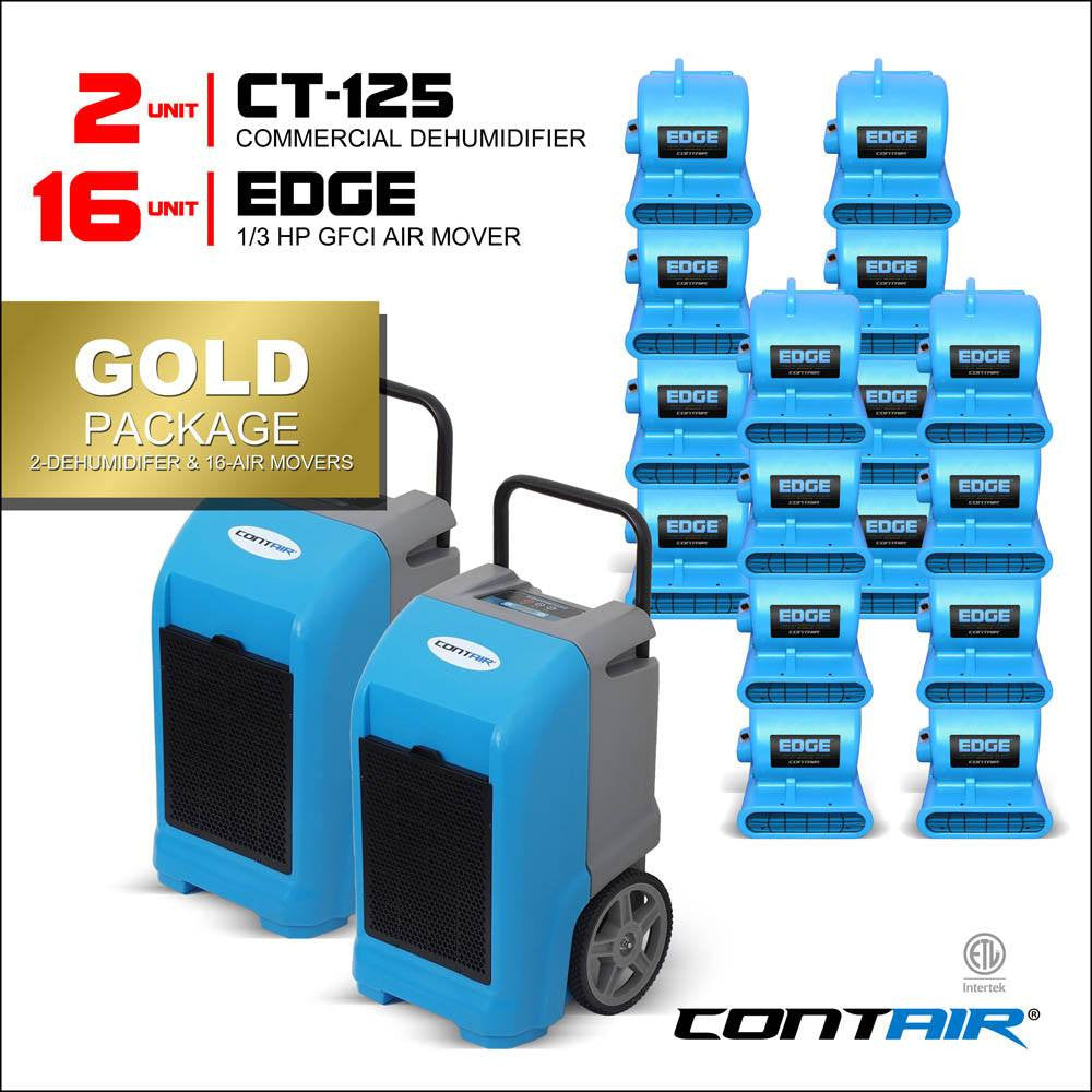 Contair gold package industrial flood restoration for Resto equipement