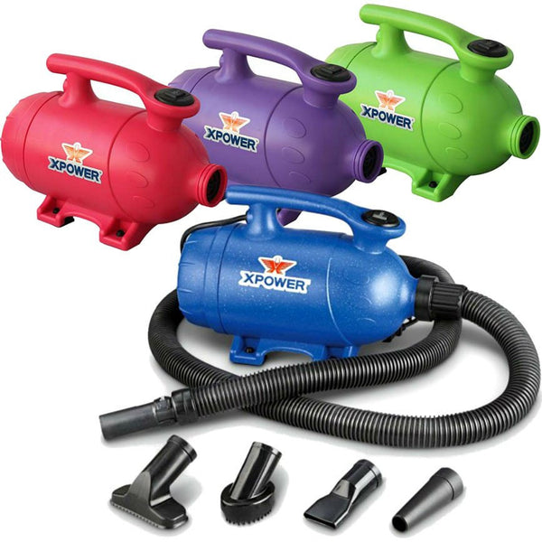 Pet Dryer - XPOWER B-2 Pro-At-Home Pet Dryer / Vacuum Dog Drying & Grooming Blower Motor