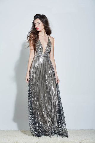 LEIGH SEQUIN MAXI DRESS