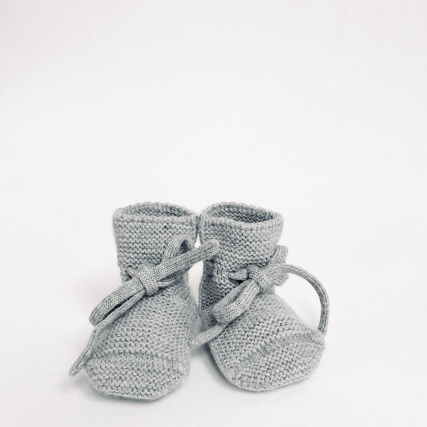 Merino Booties - Grey Melange - LAST ONE - Wildwood Lane