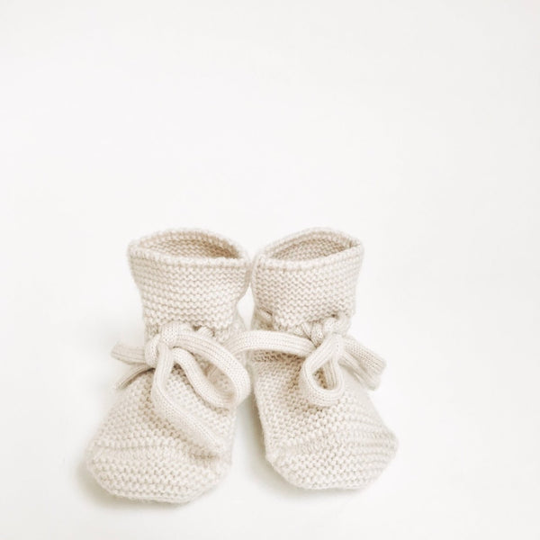 Merino Booties - Off White - Wildwood Lane