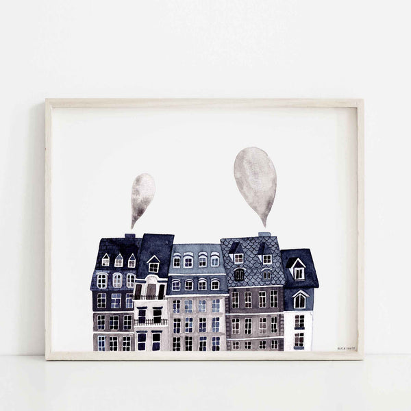Paris Scape Print - Wildwood Lane