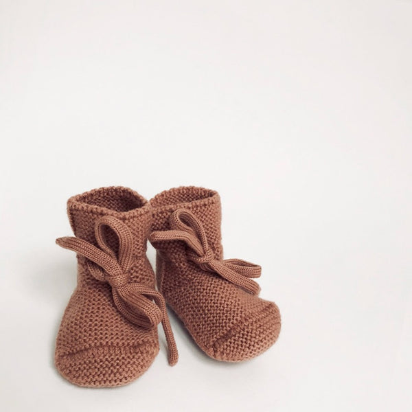 Merino Booties - Brick - Wildwood Lane