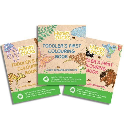 Toddler's First Colouring Book - An Endangered Animals Adventure