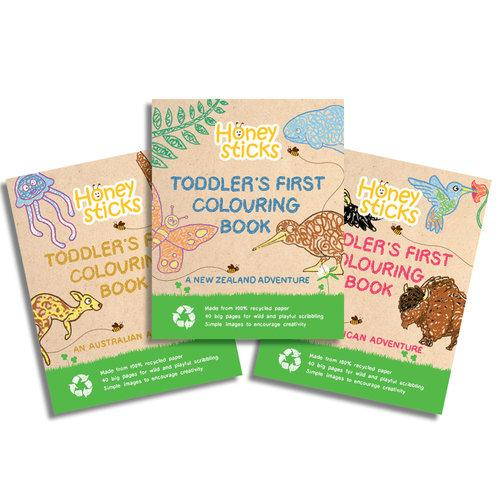 Toddler's First Colouring Book - A Kiwi Adventure
