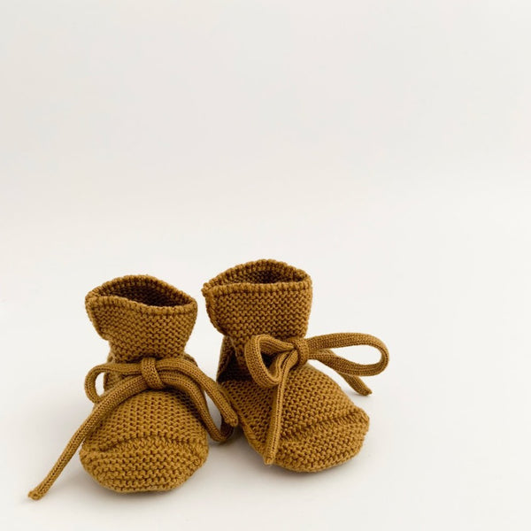 Merino Booties - Mustard - LAST ONE - Wildwood Lane