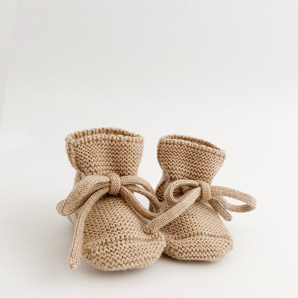 Merino Booties - Sand - LAST ONE - Wildwood Lane