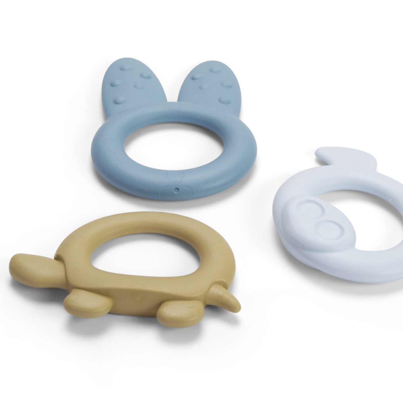 Tiny Teether Rings Blue - Set of 3