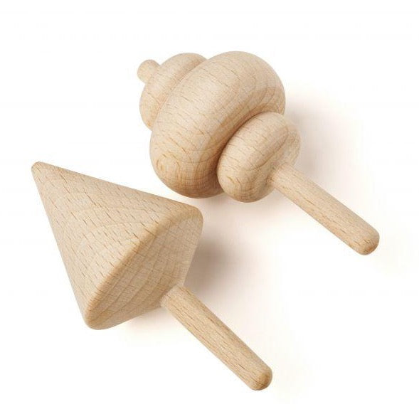 Whirligig Blizzard - Wooden Spinning Tops