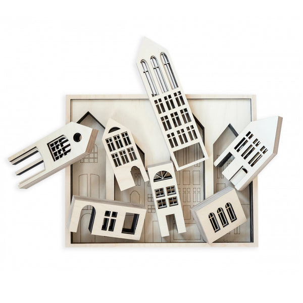 Metropol Wood - Building Blocks & Puzzle