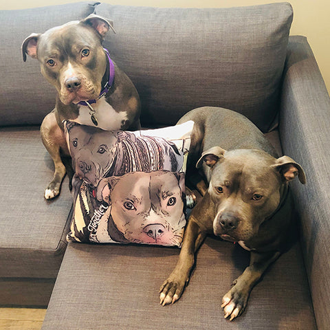 Graice and Patton with Better Together Pillow
