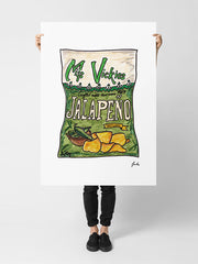 Miss Vickies Jalapeño - Large Poster