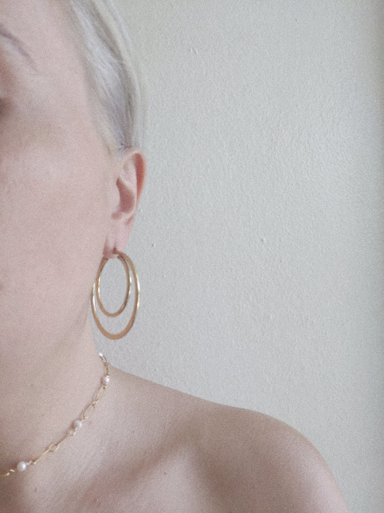 Small Double Hoop Earrings
