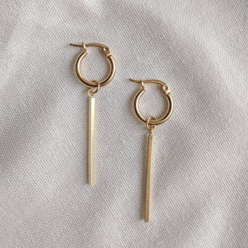 Mini Hoop Bar Earrings