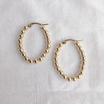 Dot Hoops Oval
