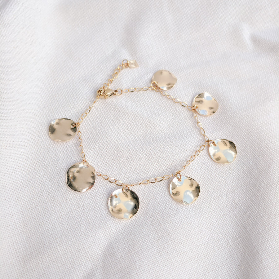Convex Coin Charms Bracelet