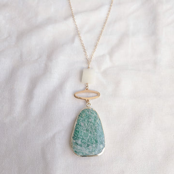 Amazonite Long Oval Necklace