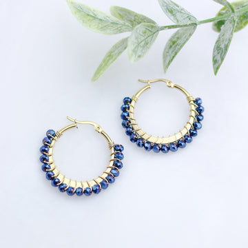 Wrapped Earrings Blue