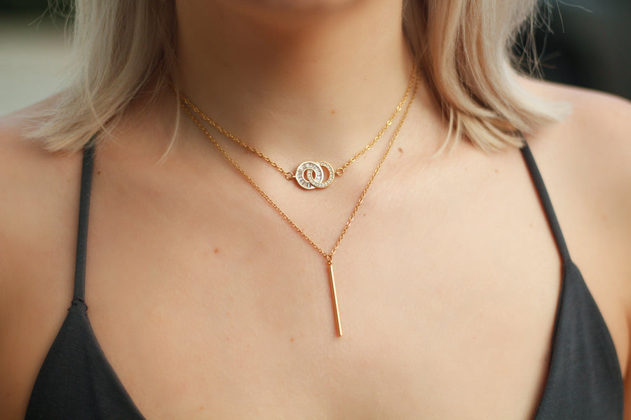 Vertical Short Bar Necklace
