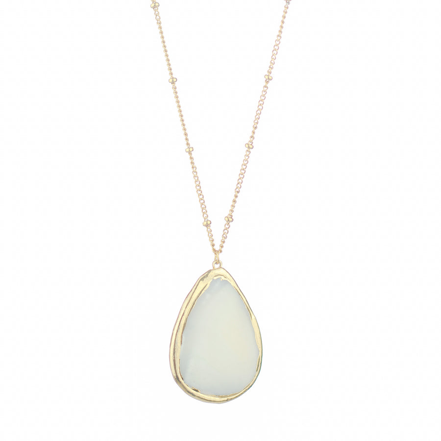 Mother of Pearl Drop Necklace
