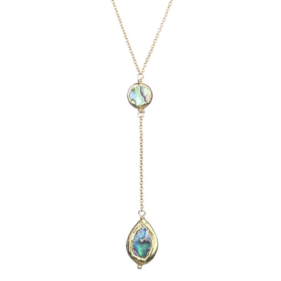 Abalone Lariat Necklace