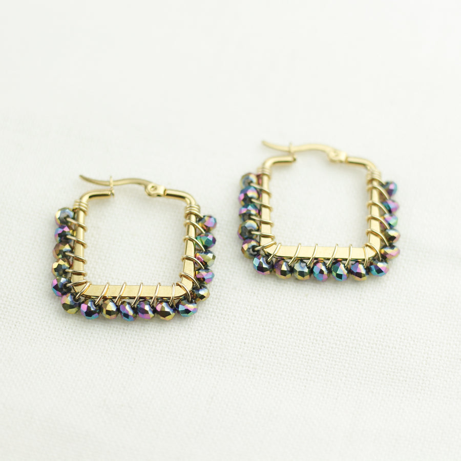 Squared Earrings Iridescent