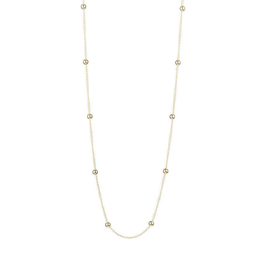 Long Dots Chain Necklace