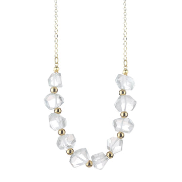 Quartz Beaded Long Necklace