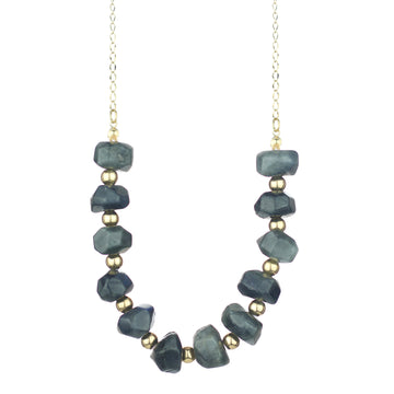 Labradorite Beaded Long Necklace