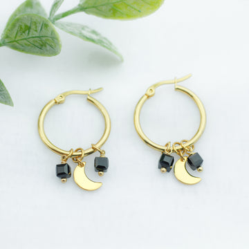 Crystal Cubes Moon Hoops