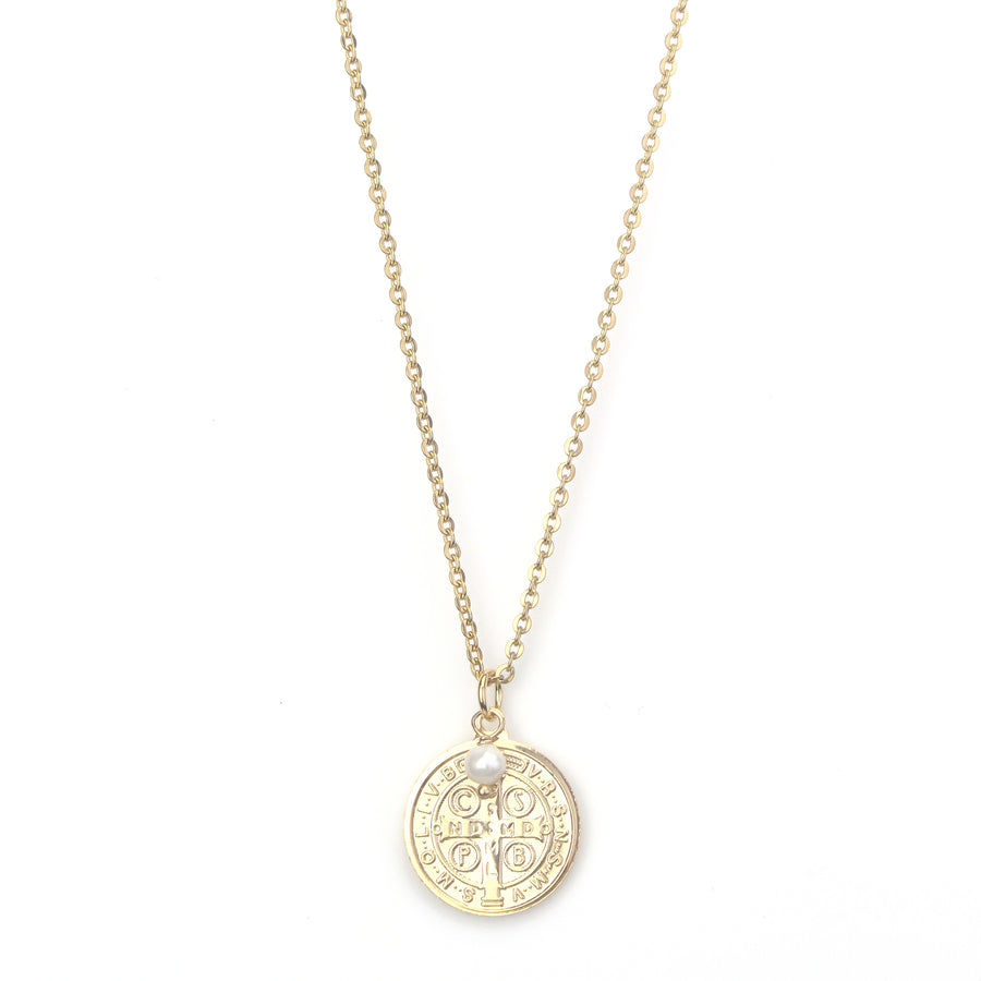 St. Benedict Big Medal Necklace