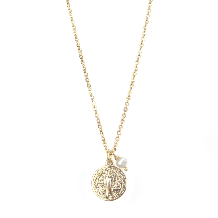 St. Benedict Small Medal Necklace