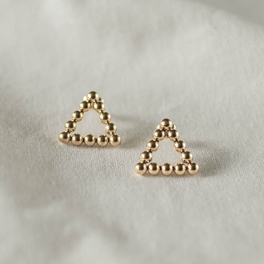 Dot Triangle Studs