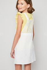 Lace Skirt Overall Dress