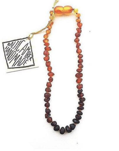 Copy of Canyon Leaf Baltic Amber teething necklace Ombre