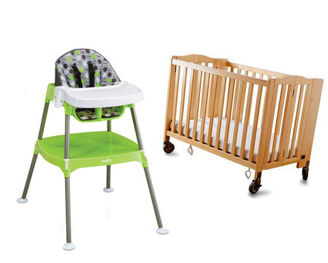 High Chair+Crib Bundle