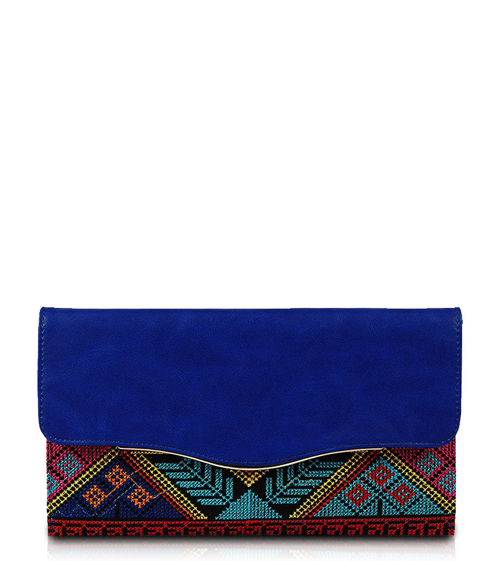 Lacie Envelope Clutch - Blue